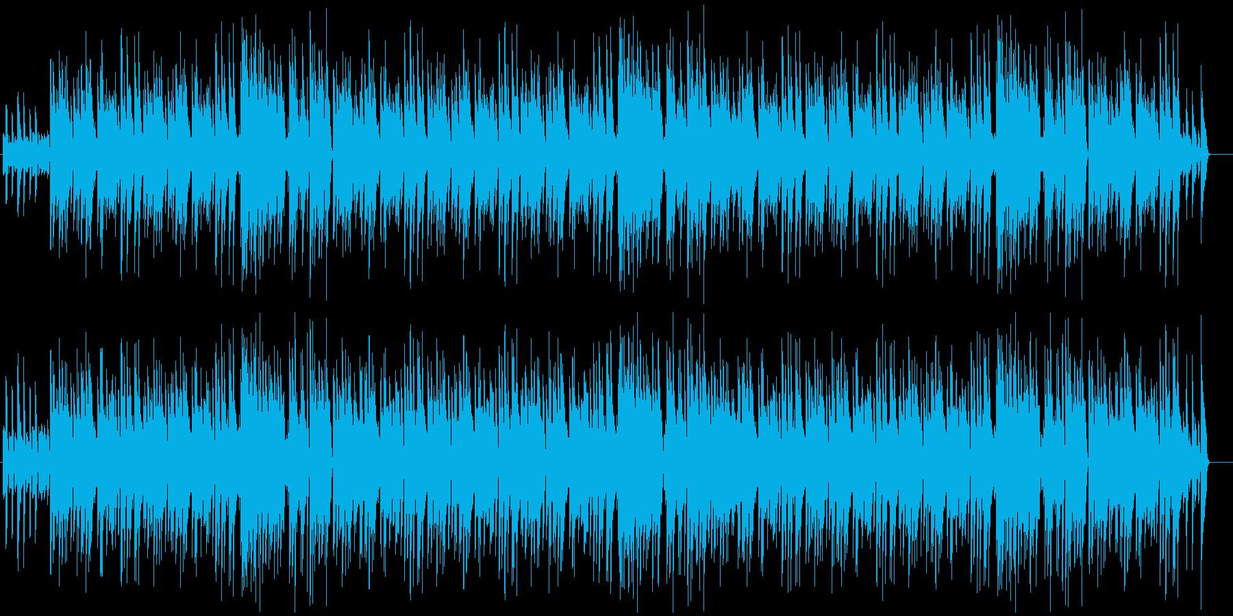 ピアノの明るいジャズミュージックの再生済みの波形