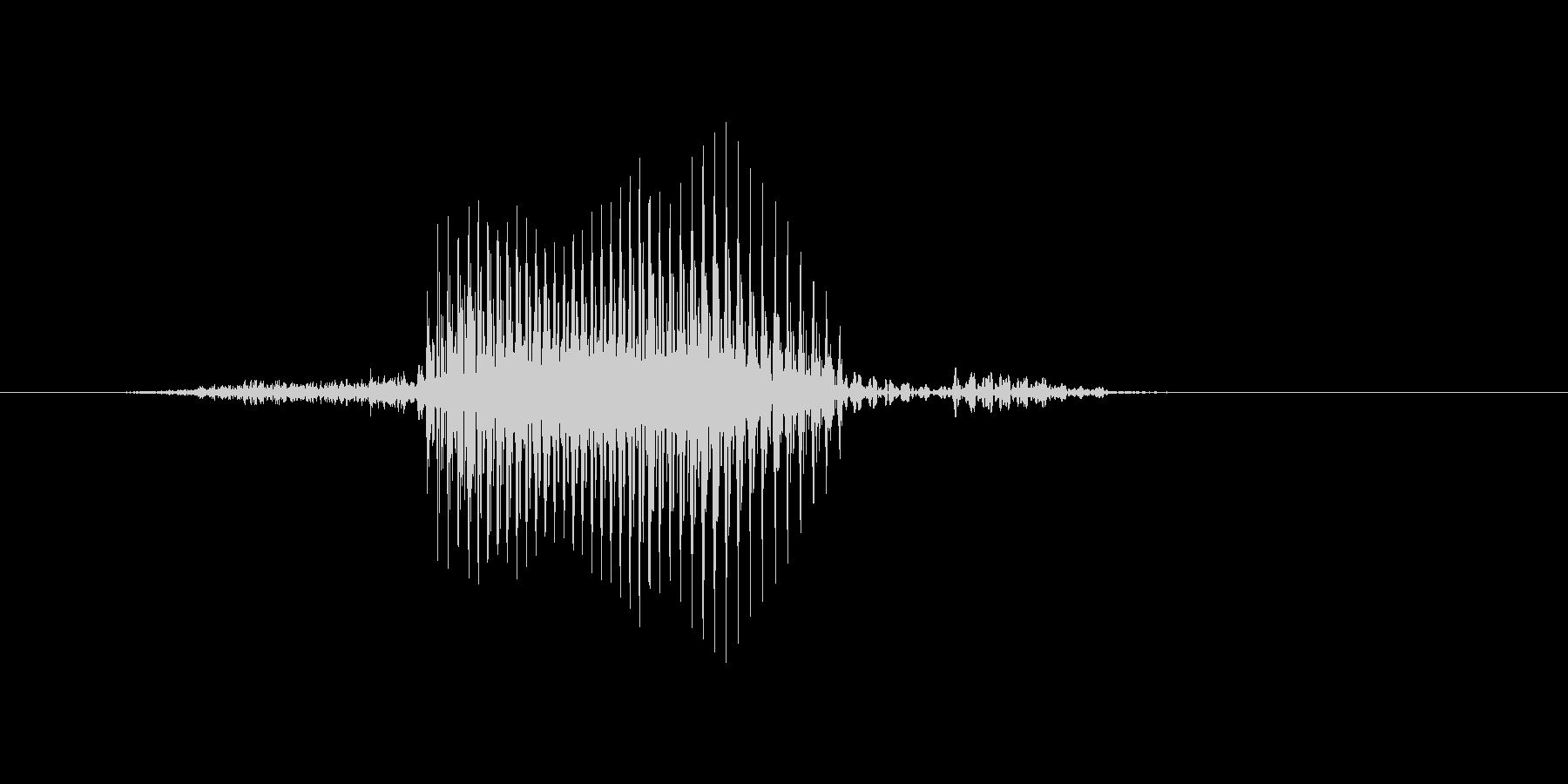 サーブの未再生の波形