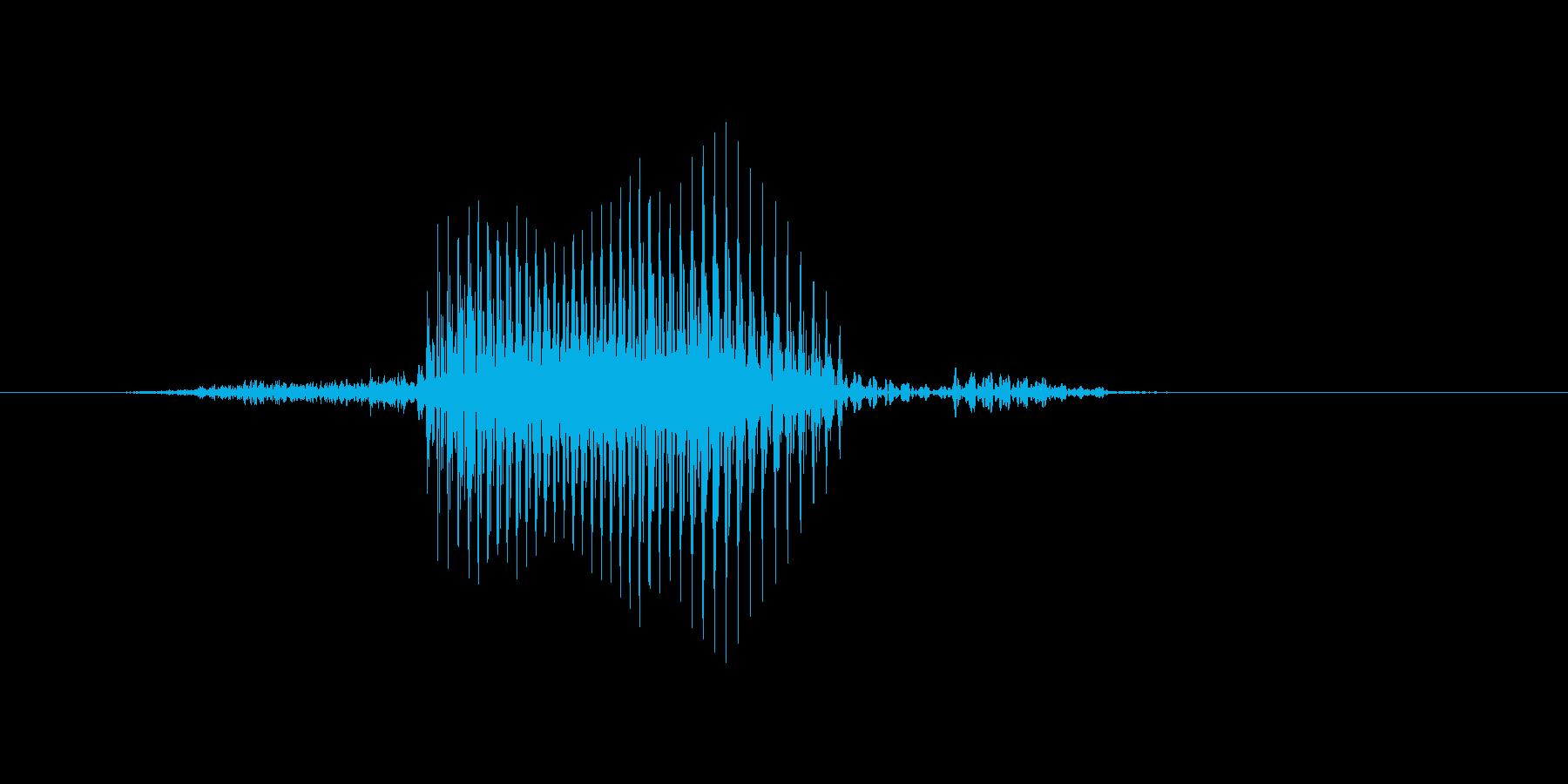 サーブの再生済みの波形