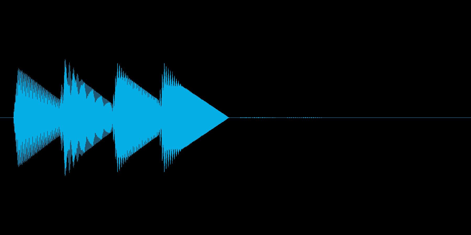 8bitのシステム音ピロロロン↑の再生済みの波形