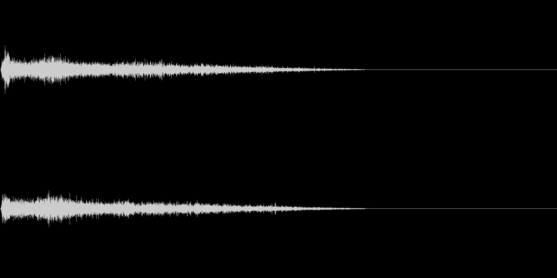 Dマイナー インパクト音 衝撃音の未再生の波形