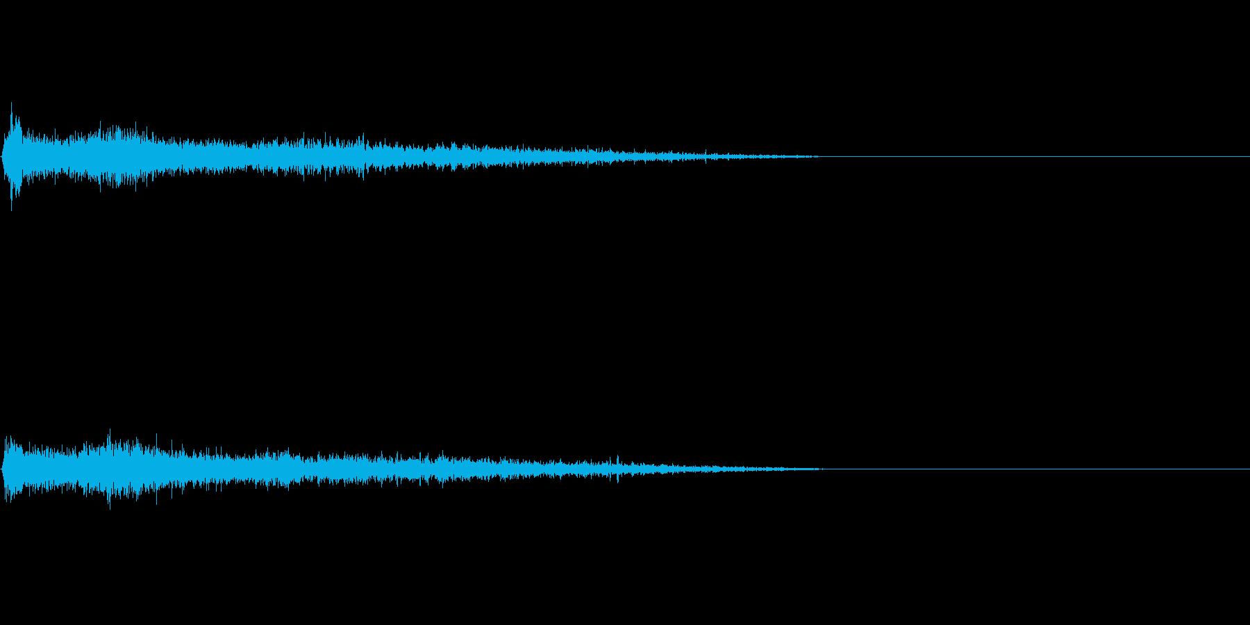 Dマイナー インパクト音 衝撃音の再生済みの波形