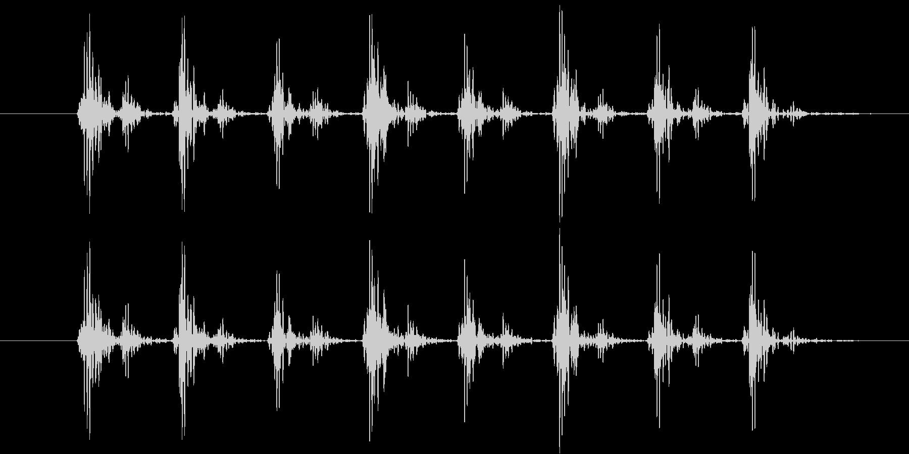 心拍音をイメージしたシンセ音(連発)の未再生の波形