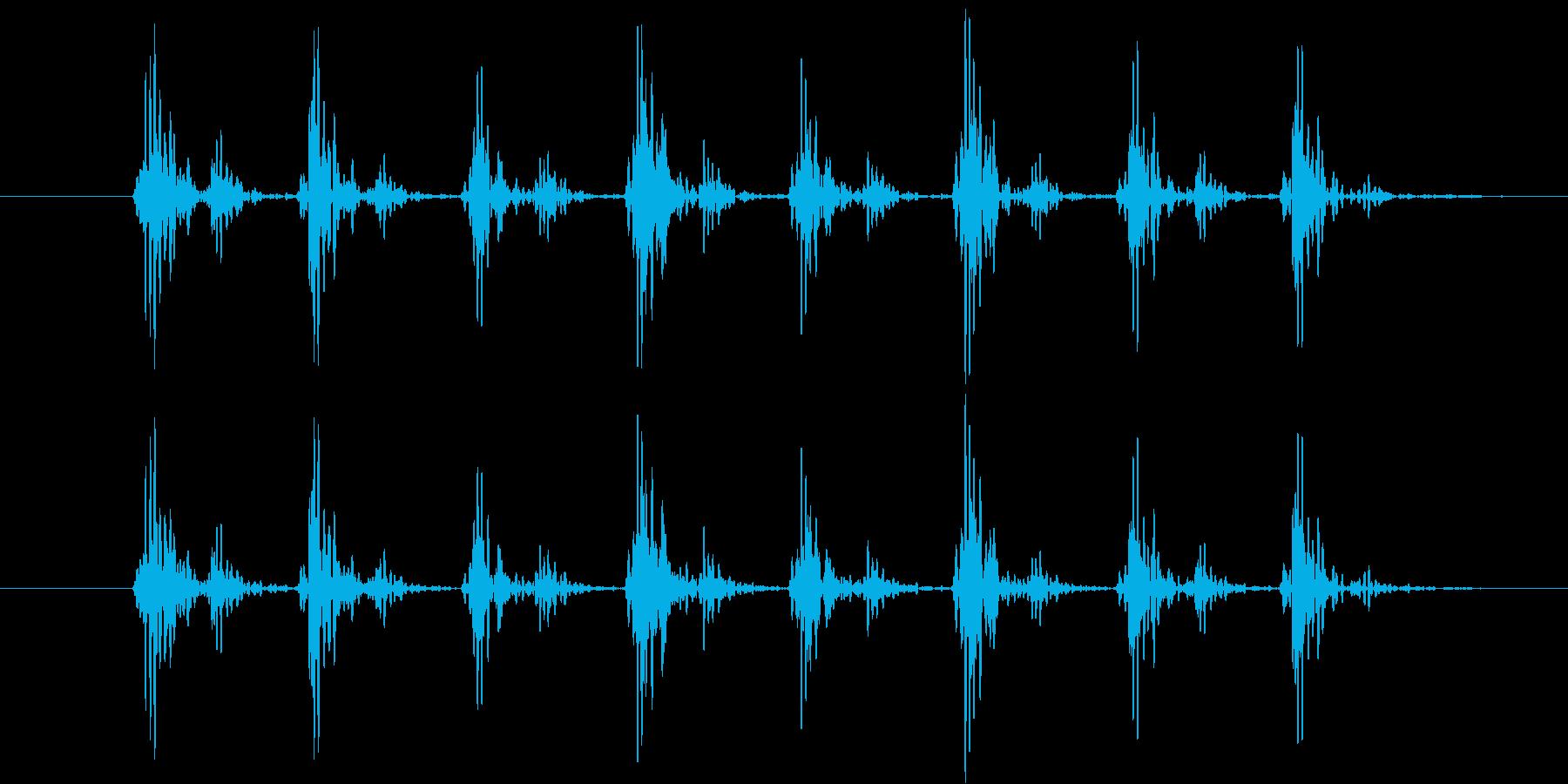 心拍音をイメージしたシンセ音(連発)の再生済みの波形