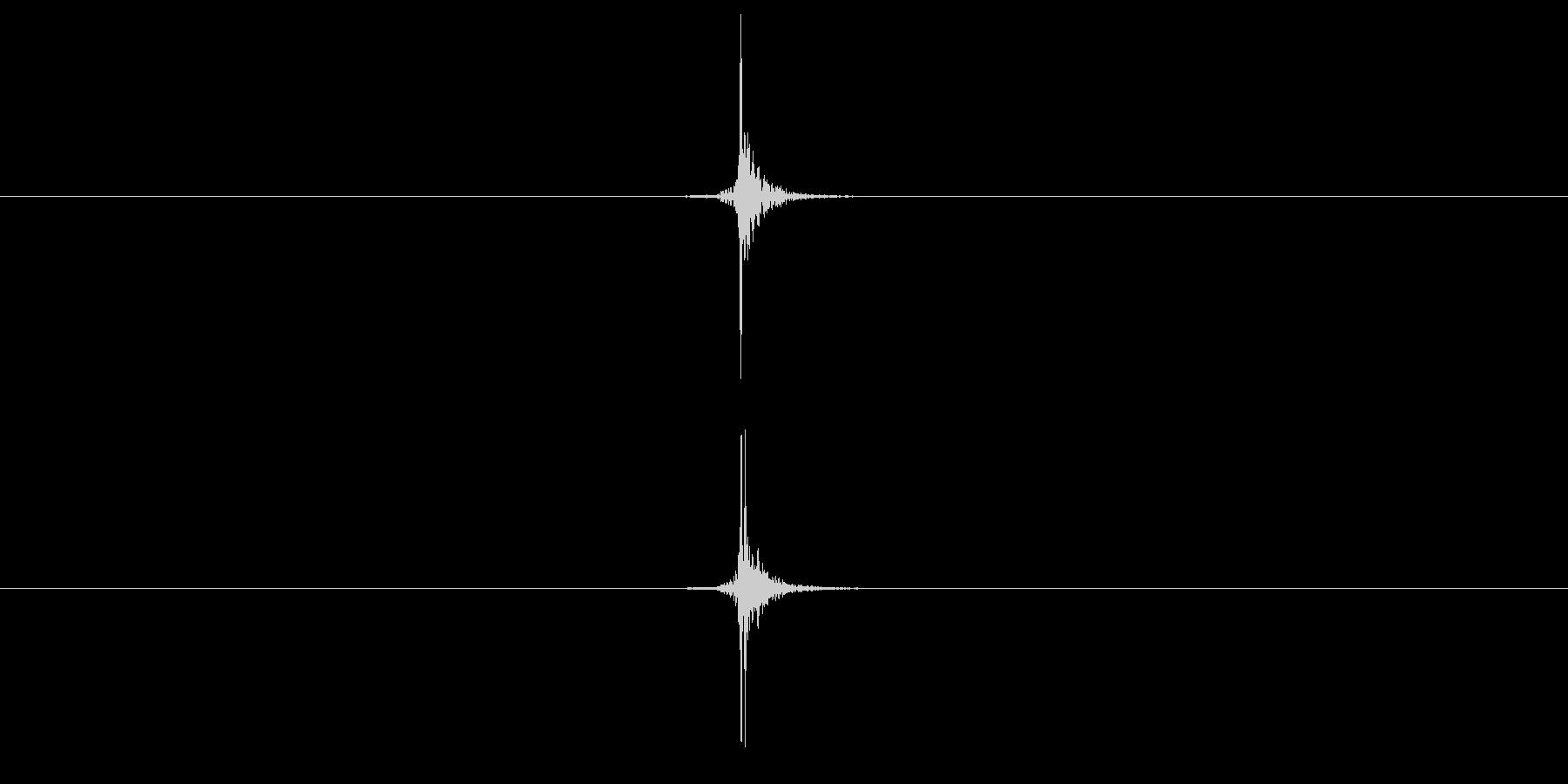 【生音】指・パッチン - 2 「ぱっち…の未再生の波形