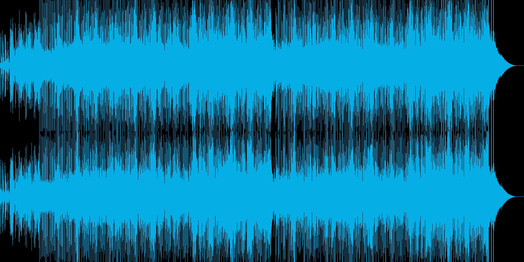 カラフルでメルヘンなアワ風呂イメージの再生済みの波形