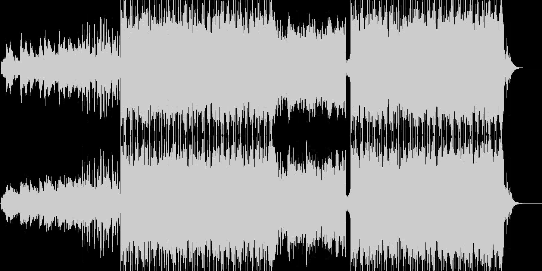 ライトなエレクトロポップの未再生の波形