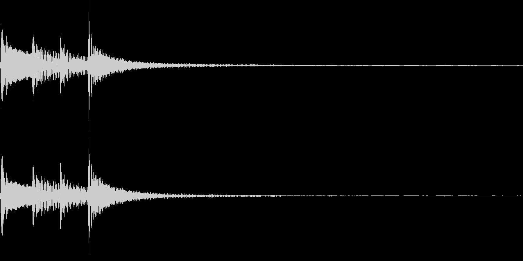 コロロン(決定、出現、回転)の未再生の波形