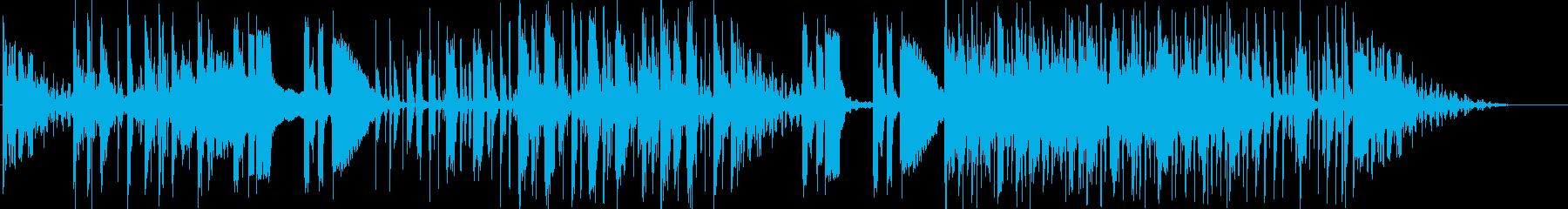 無機質で不思議なアンビエントの再生済みの波形