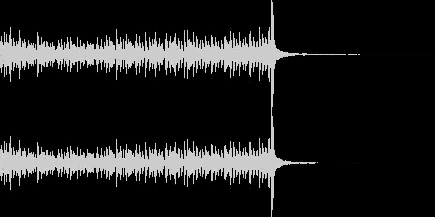 スタタタ タン! スネアロール2の未再生の波形