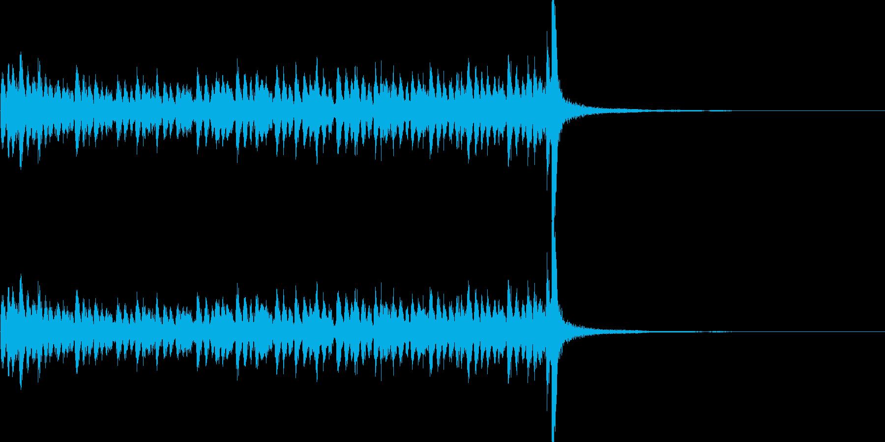 スタタタ タン! スネアロール2の再生済みの波形