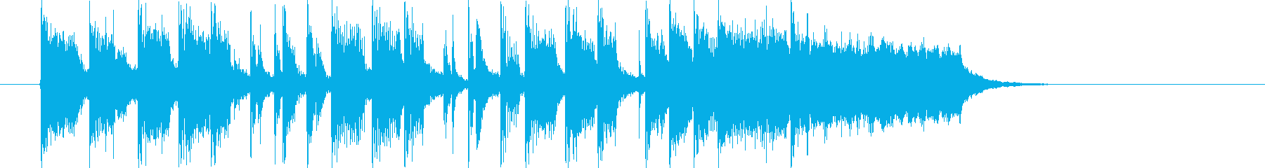 なだらかで和やかなトランペットジングルの再生済みの波形