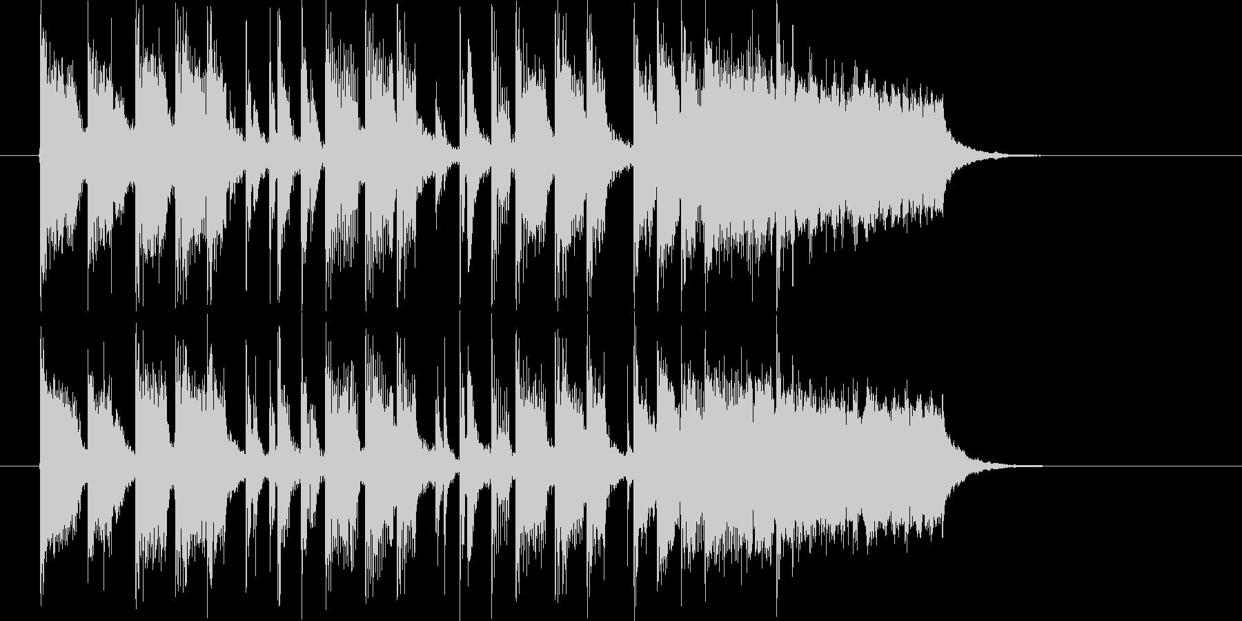 なだらかで和やかなトランペットジングルの未再生の波形