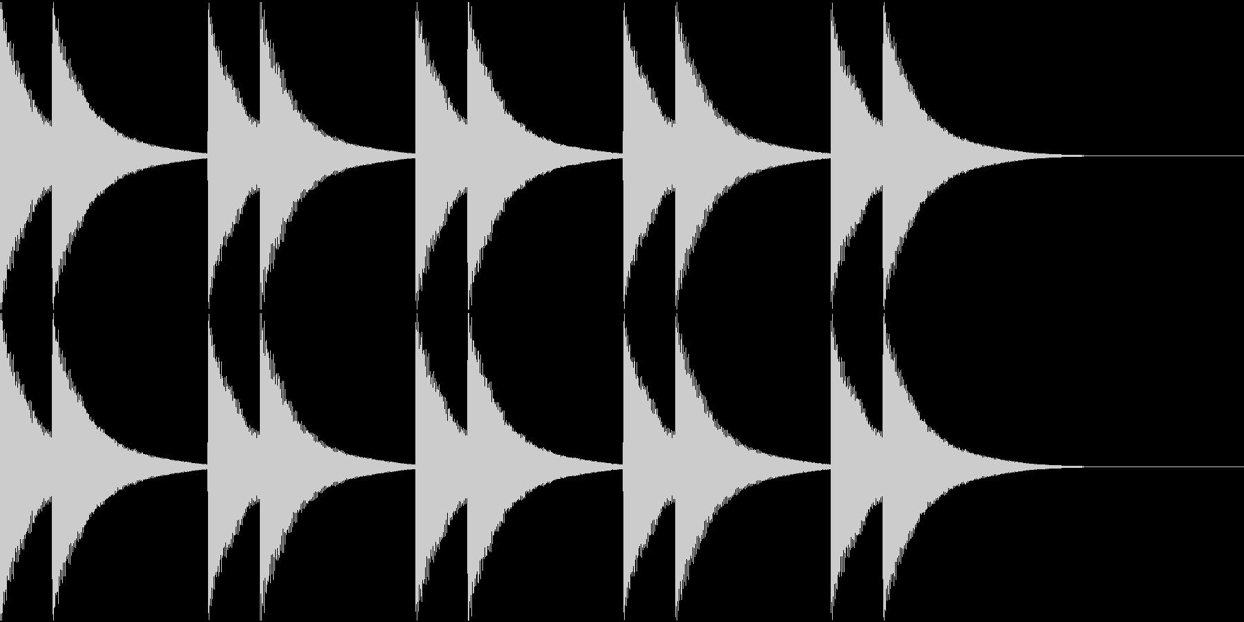 カーンカーン。カーンカーン☆鎮魂の鐘の未再生の波形