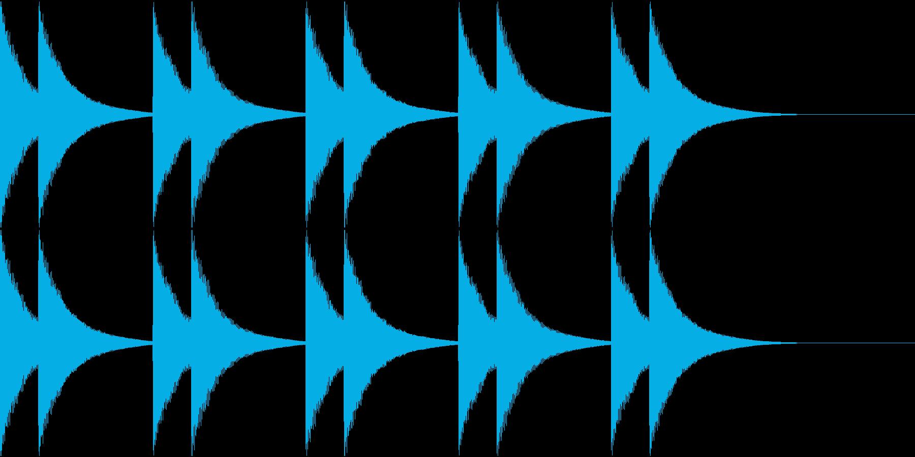 カーンカーン。カーンカーン☆鎮魂の鐘の再生済みの波形