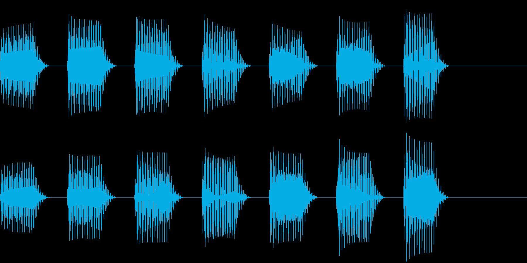 ワープしそうな音01の再生済みの波形