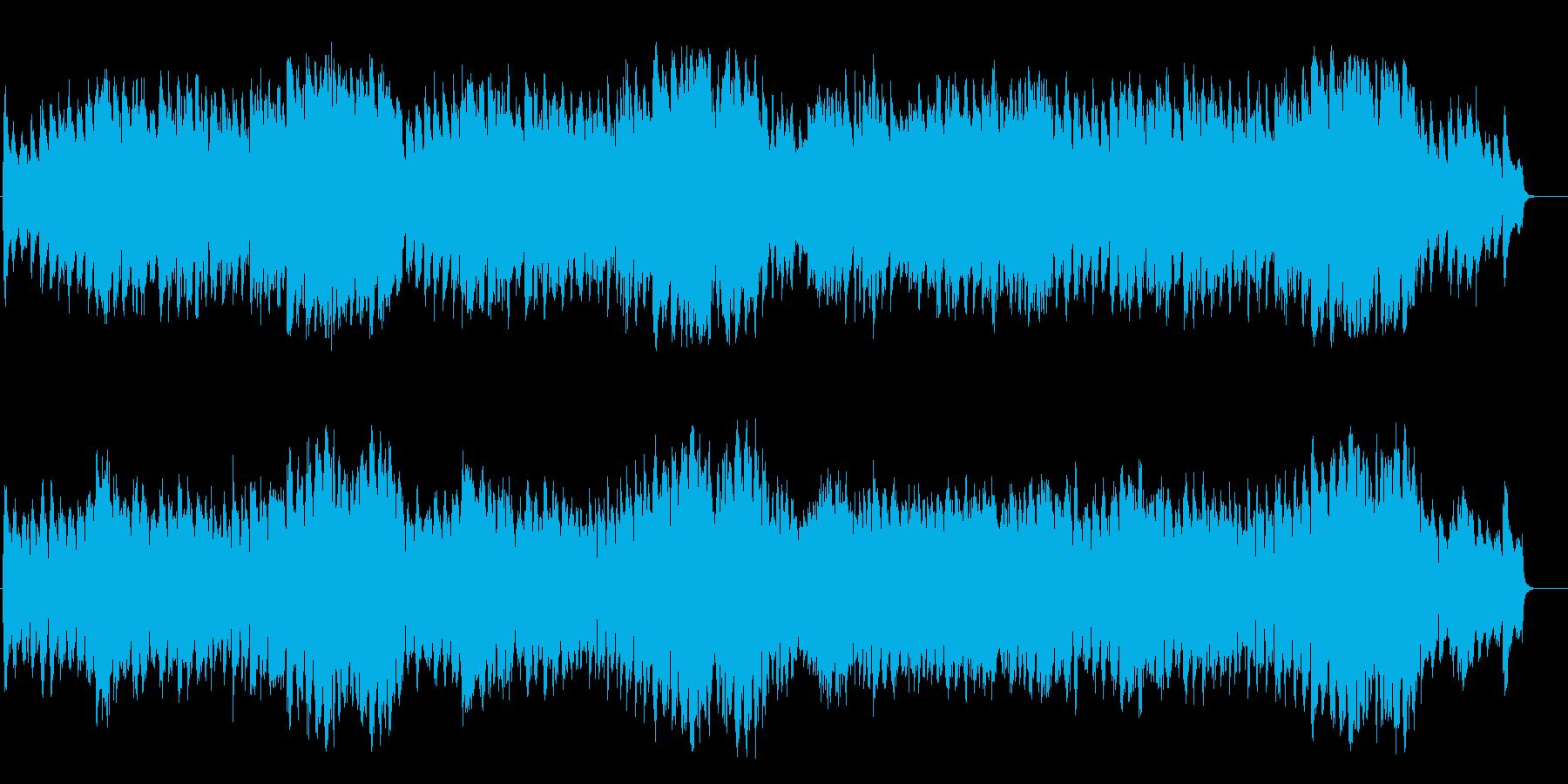 強く優しい大地の大らかなフルオーケストラの再生済みの波形