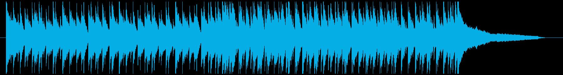 シャッフルリズムの陽気なポップスの再生済みの波形