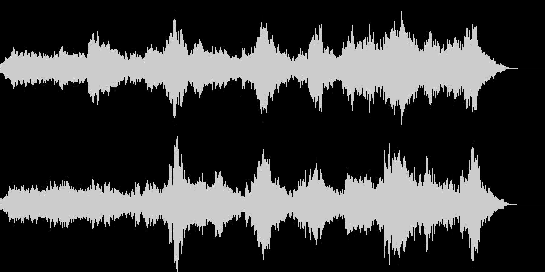 幻想的でダークなアンビエント曲の未再生の波形