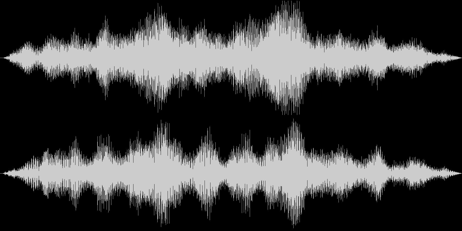 エフェクティブな効果音です。の未再生の波形
