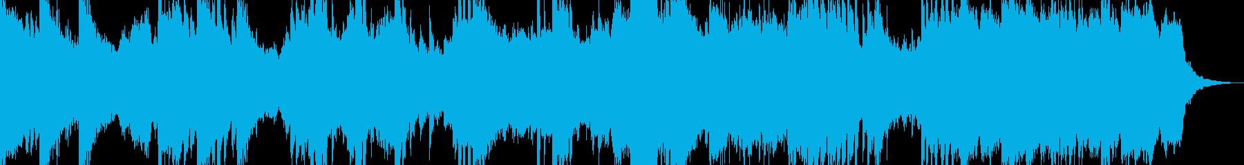 コマーシャル等の短い感動的な音楽の再生済みの波形