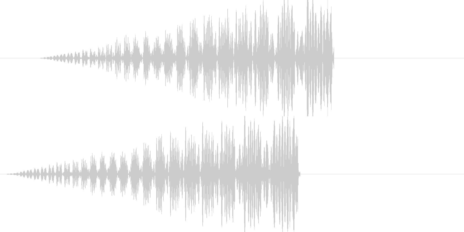 効果音(ギュー)の未再生の波形
