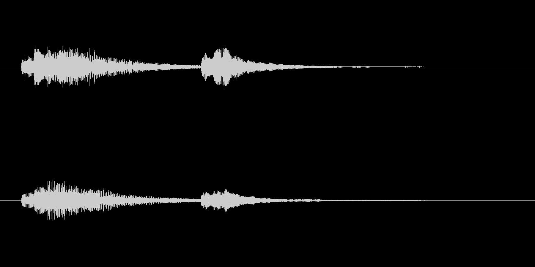 サウンドロゴ-4の未再生の波形