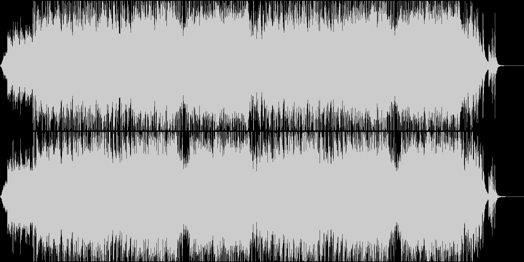 穏やかな雰囲気のエンディング系BGMの未再生の波形