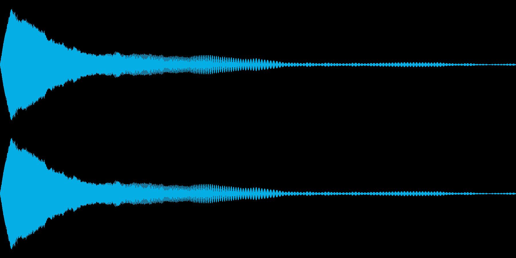 ピュン(ビームを撃つ)の再生済みの波形