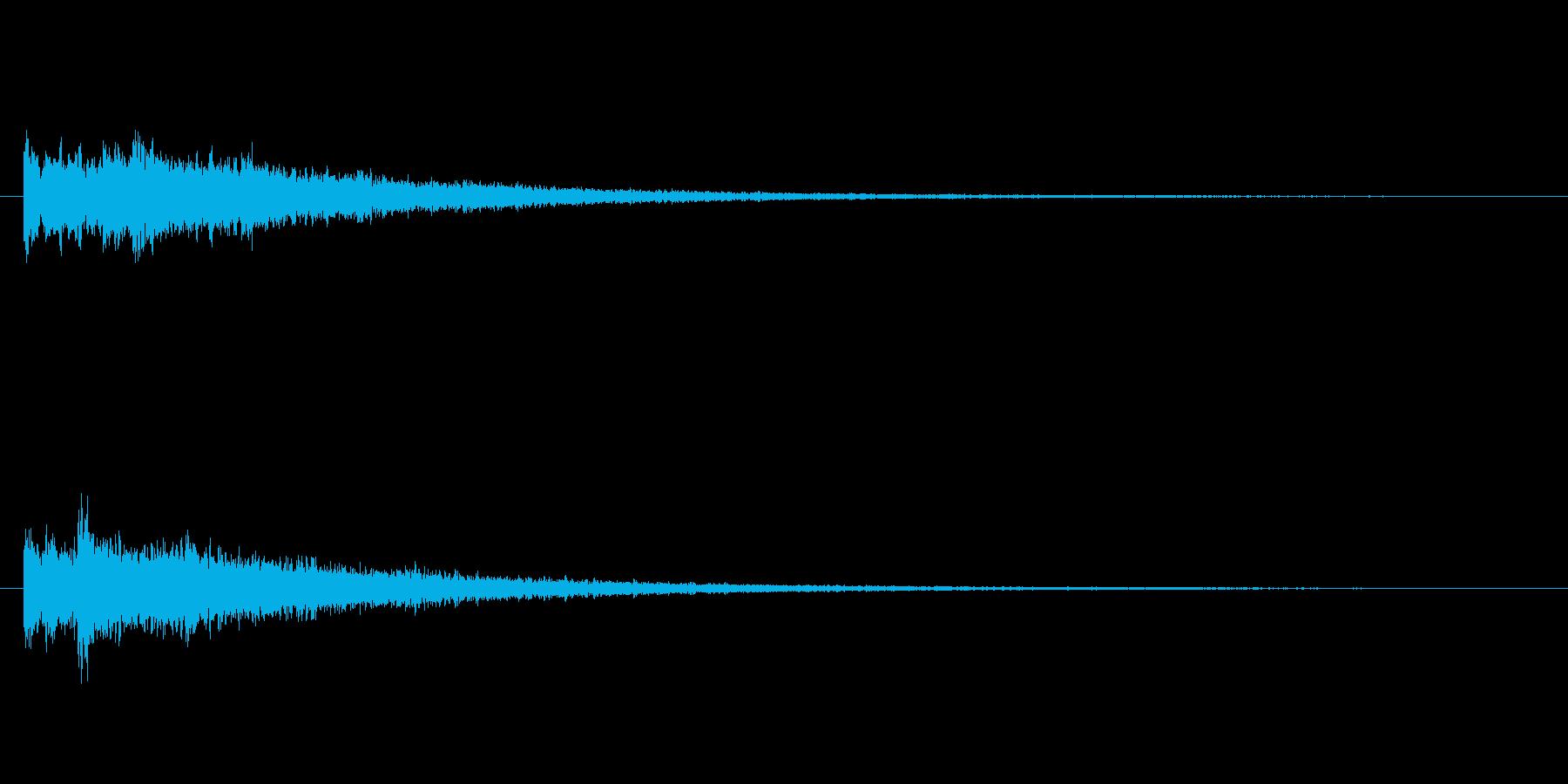 映像などで使える不思議な音の再生済みの波形