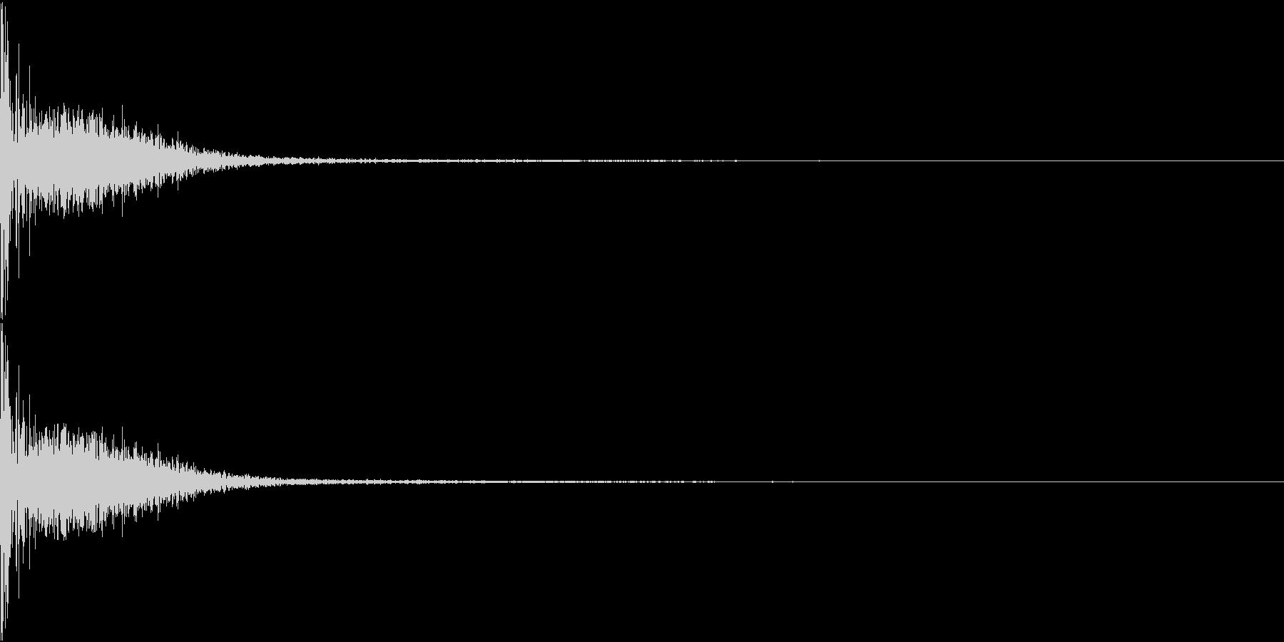 野球 キャッチャーミット 捕球音 室内の未再生の波形