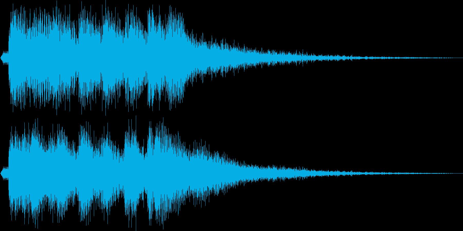 レベルアップっぽいファンファーレ2(短めの再生済みの波形