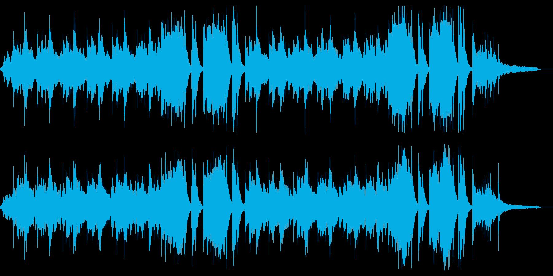 短めのピアノインスト曲ですの再生済みの波形