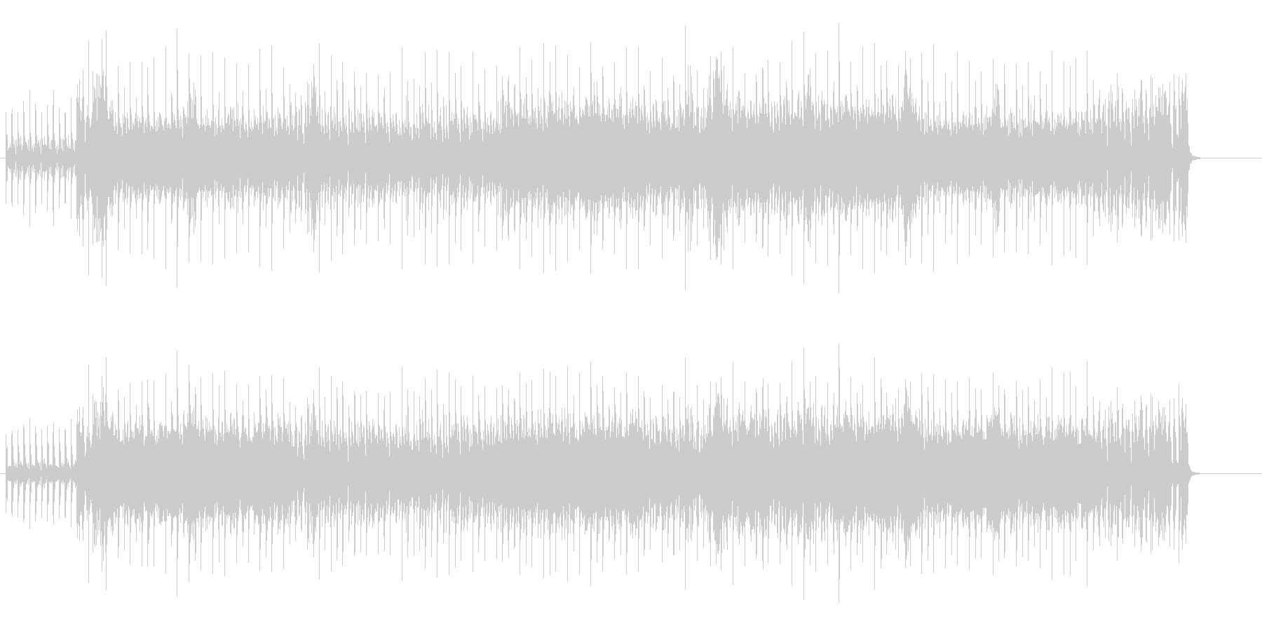 不滅のイケイケ哀愁味ユーロ・ビートの未再生の波形