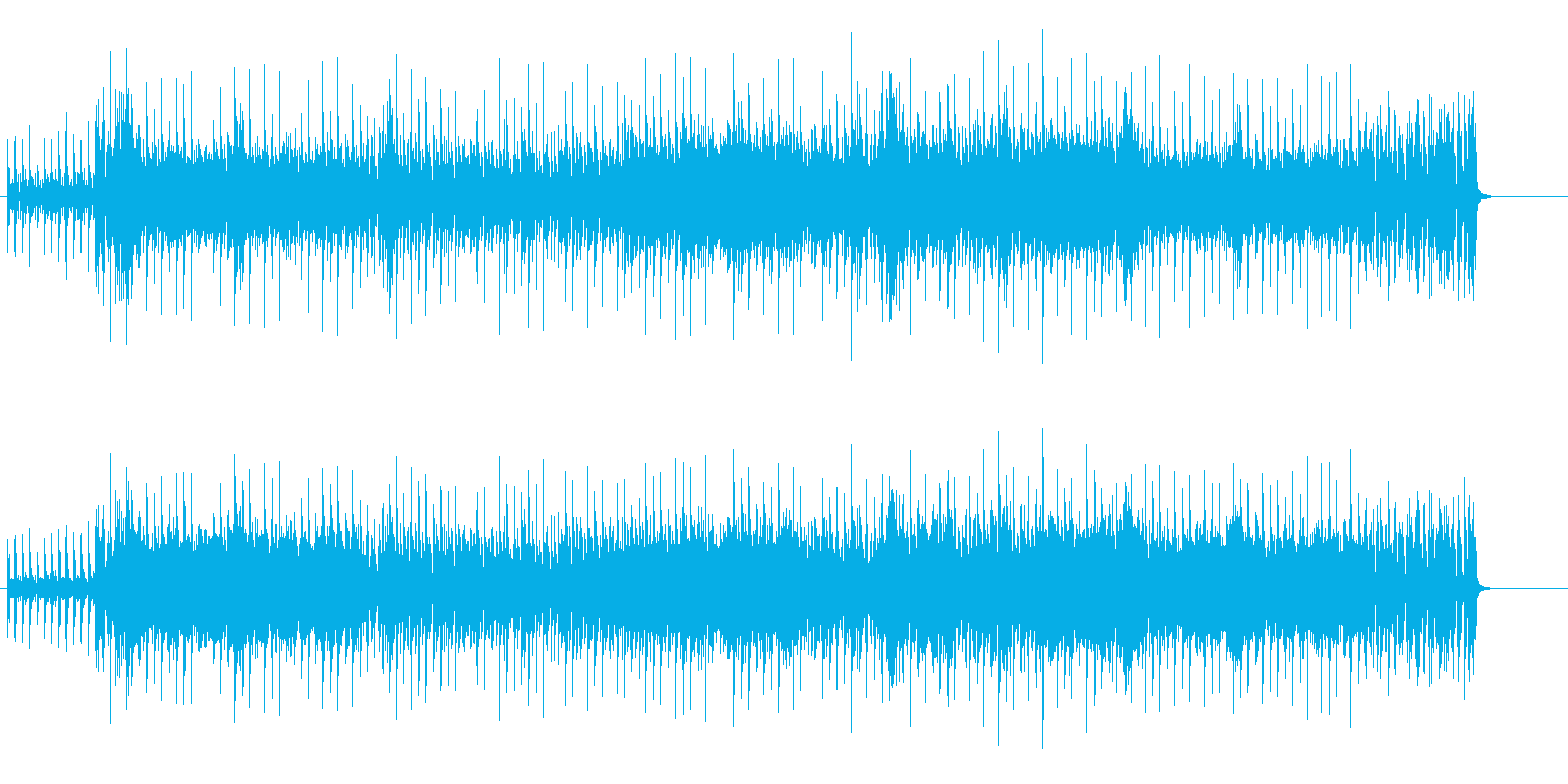 不滅のイケイケ哀愁味ユーロ・ビートの再生済みの波形