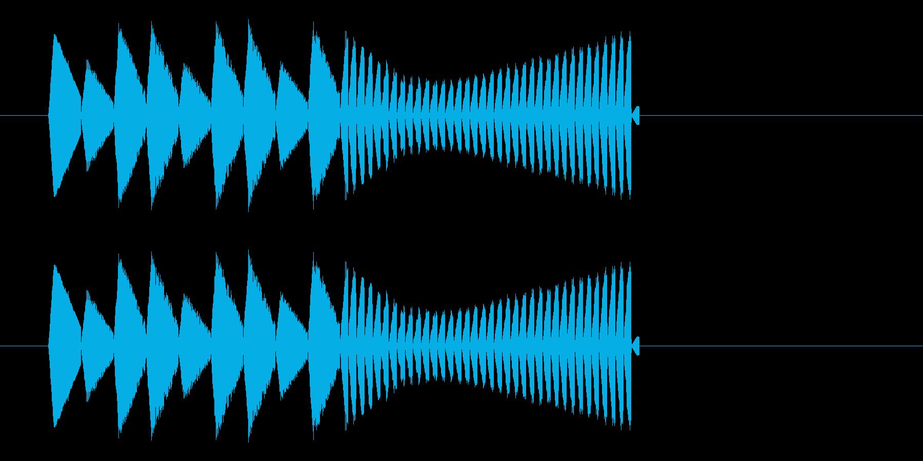 ゲームオーバー・おしまい ファミコン系の再生済みの波形