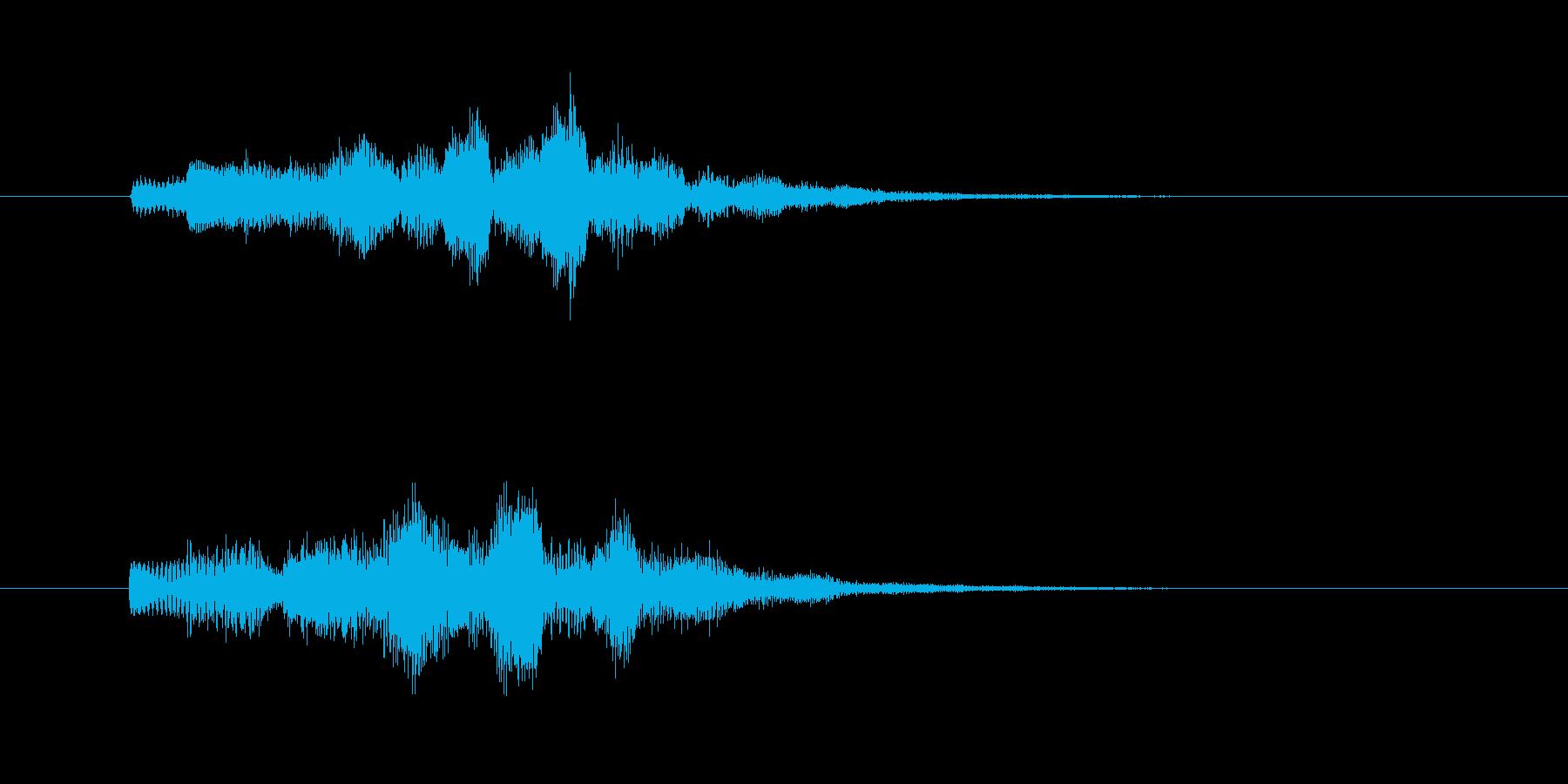 ホワホワホワ(幻想的なタイトル音)の再生済みの波形