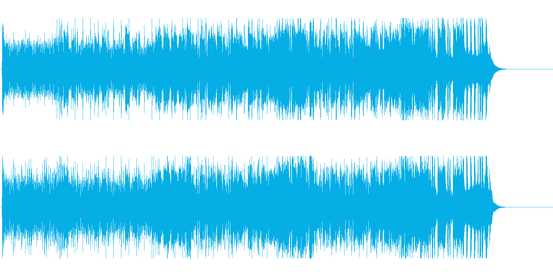 賑やかで楽しい近未来テクノポップの再生済みの波形