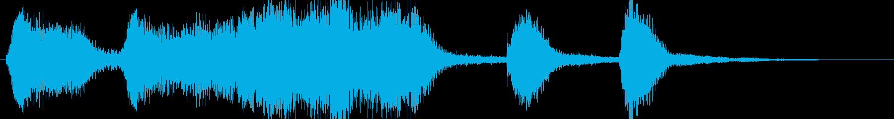 小編成のストリングスによる優雅なジングルの再生済みの波形
