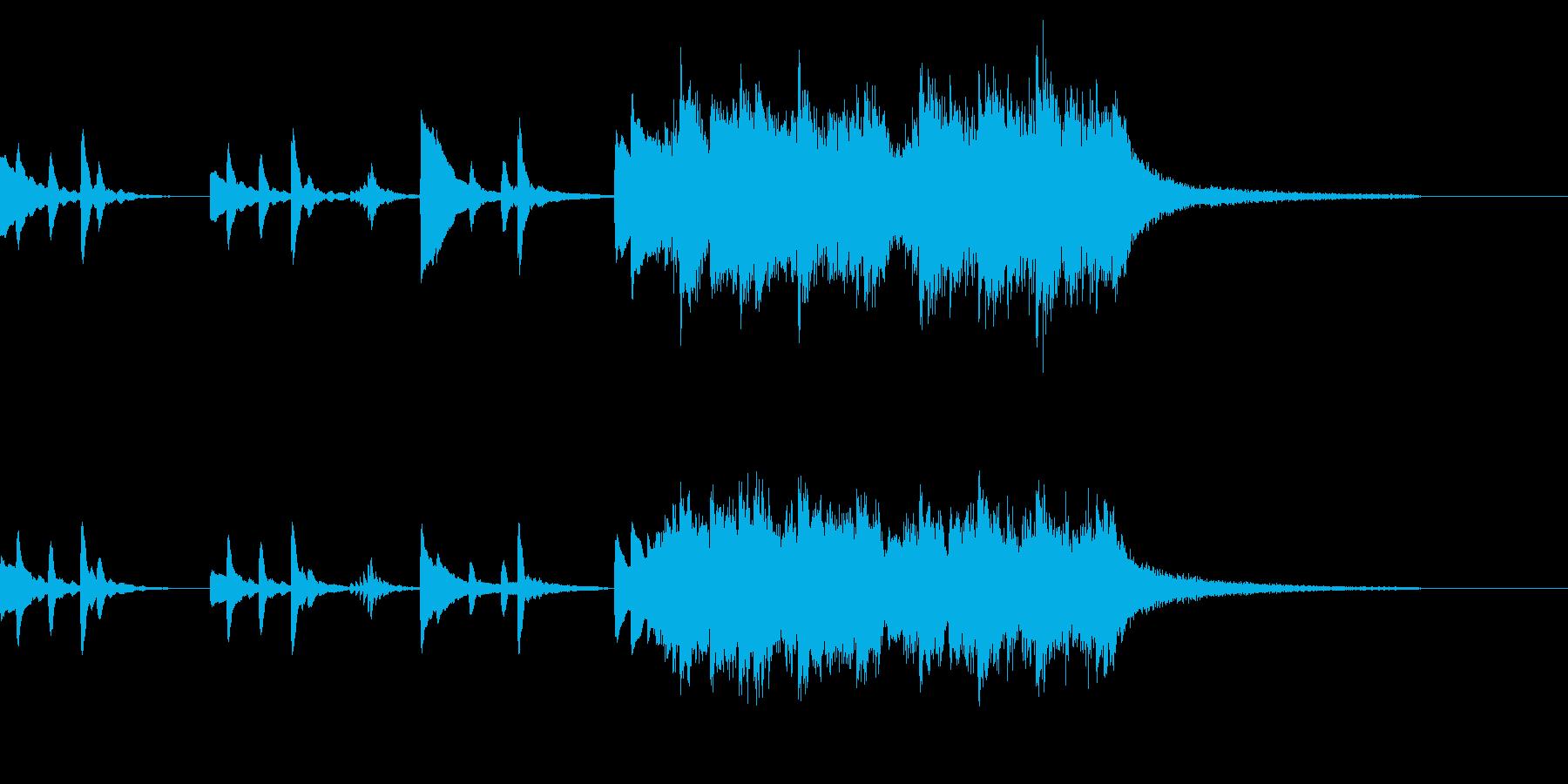 優しい、ドラマチックなピアノジングルの再生済みの波形