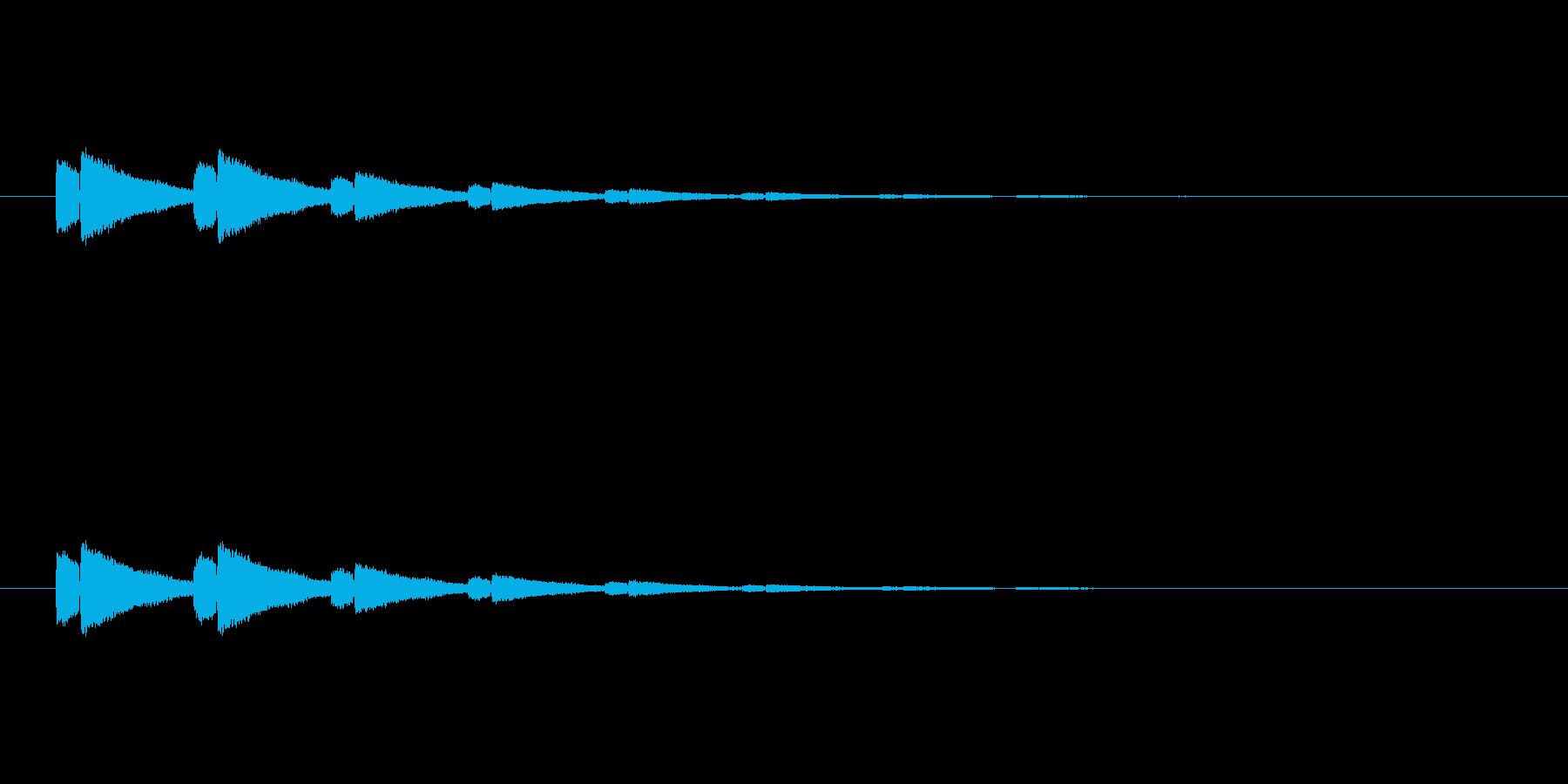 【アクセント26-3】の再生済みの波形