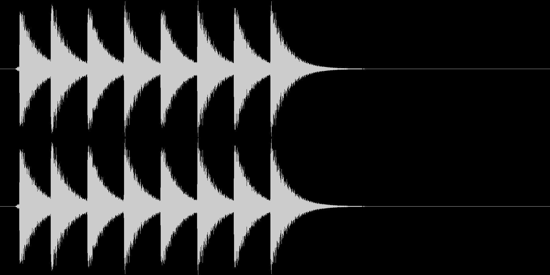 クイズ、正解等の未再生の波形