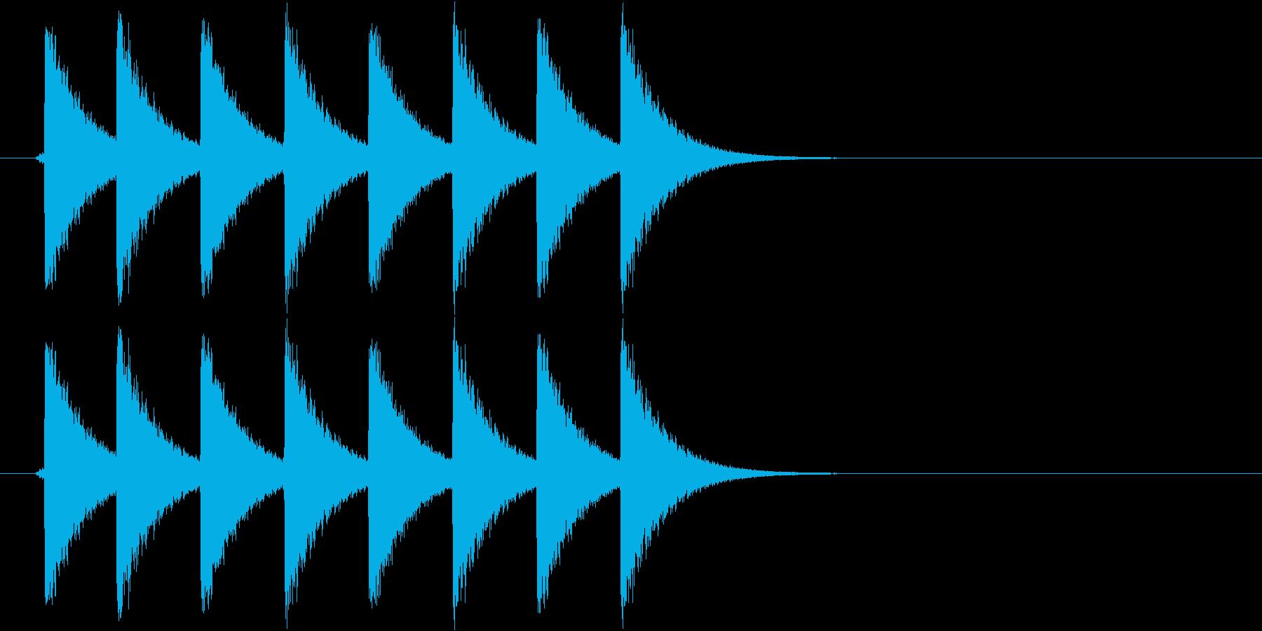 クイズ、正解等の再生済みの波形