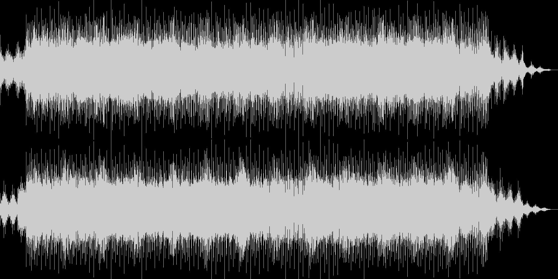 ノリのいいバッキングが印象的なBGMの未再生の波形