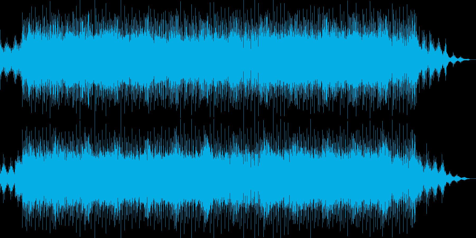 ノリのいいバッキングが印象的なBGMの再生済みの波形