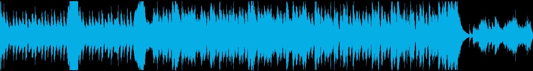 ホラーなオーケストラのループ素材の再生済みの波形