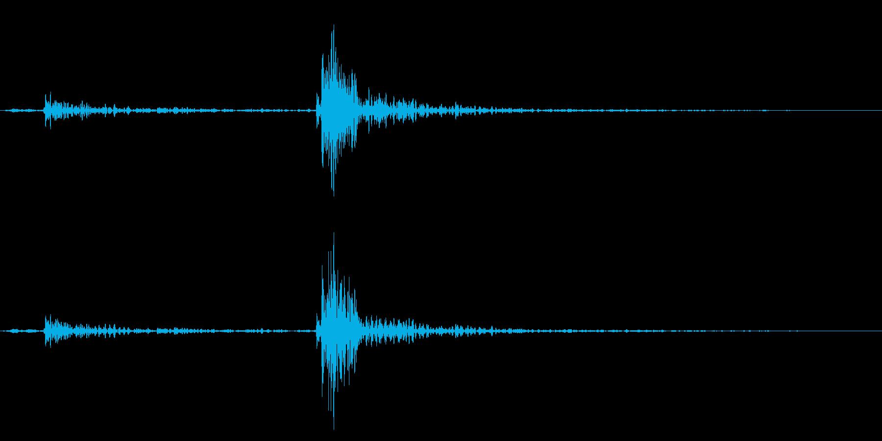 ガッタン!洗濯機の蓋を閉める音の再生済みの波形