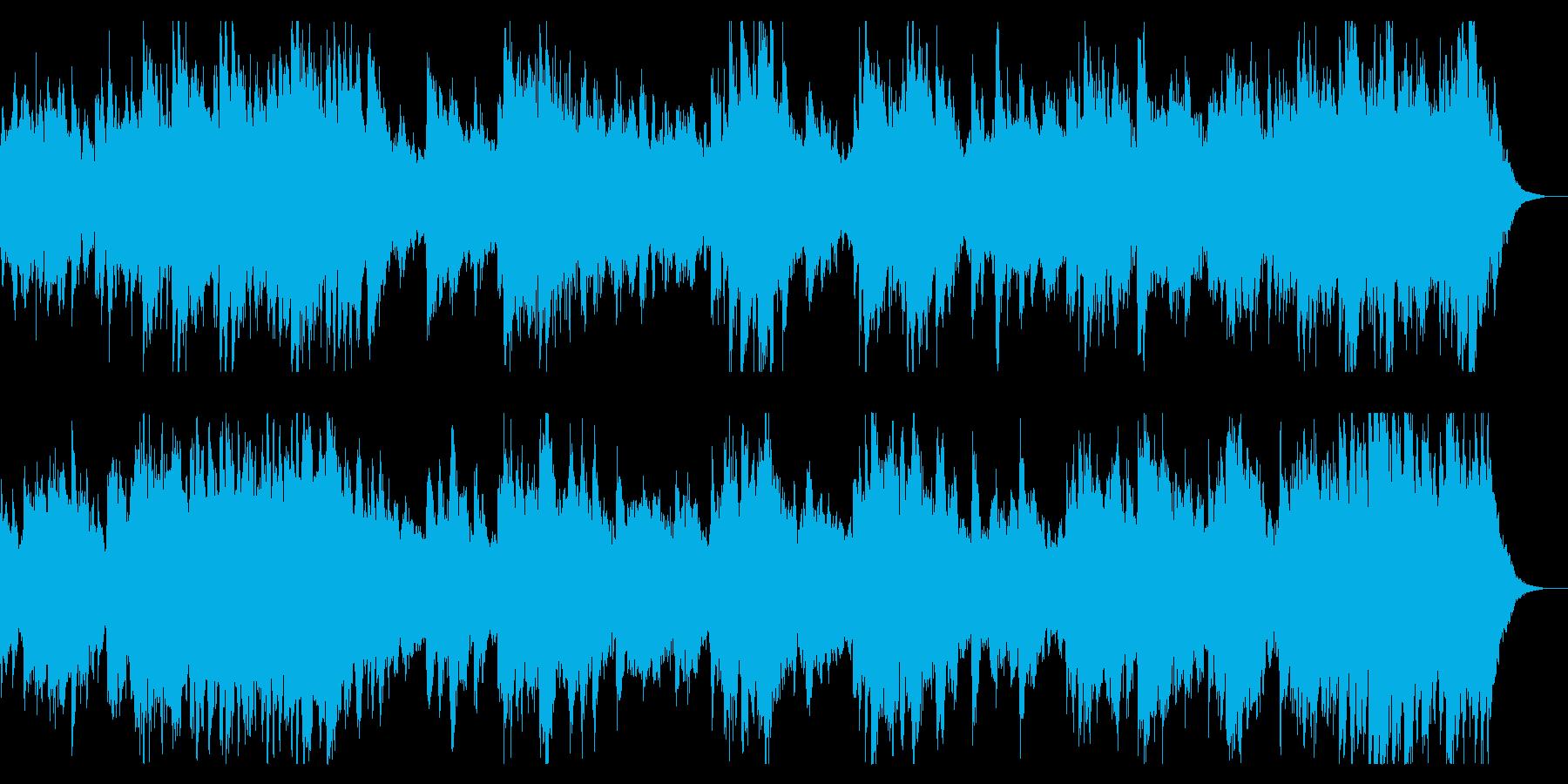 ダークでミステリアスなピアノ主体のBGMの再生済みの波形