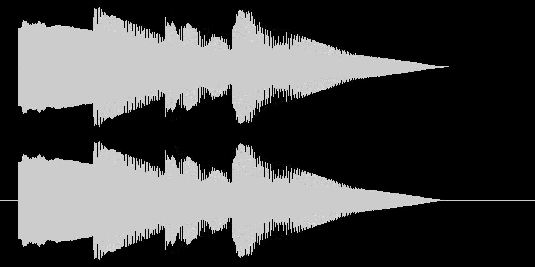 チャイム アナウンス06-2の未再生の波形