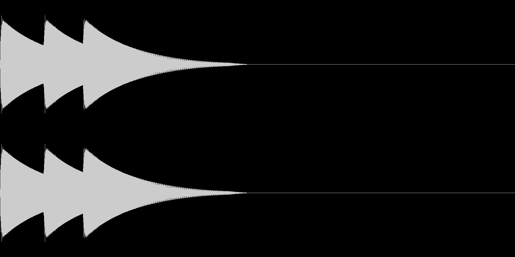 ボタン、クリック、アイテム獲得(低音域)の未再生の波形